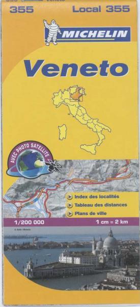 355 Veneto | Michelin  wegenkaart, autokaart 1:200.000 9782067127173  Michelin Michelin Italië 1:200.000  Landkaarten en wegenkaarten Venetië, Veneto, Friuli
