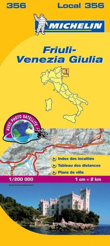 356 Friuli, Venezia Giulia | Michelin  wegenkaart, autokaart 1:200.000 9782067127180  Michelin Michelin Italië 1:200.000  Landkaarten en wegenkaarten Venetië, Veneto, Friuli