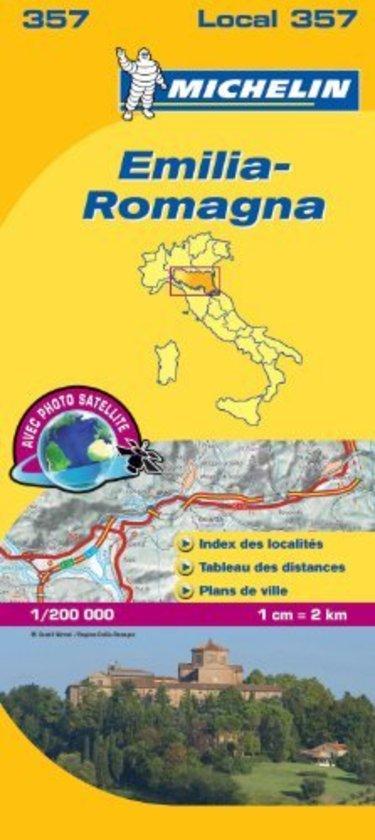 357 Emilia Romagna | Michelin  wegenkaart, autokaart 1:200.000 9782067127197  Michelin Michelin Italië 1:200.000  Landkaarten en wegenkaarten Bologna, Emilia-Romagna