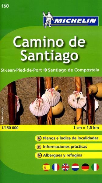 Wandelatlasje de Weg naar Compostela 1:150.000 (E) 9782067148055  Michelin   Santiago de Compostela, Wandelkaarten Santiago de Compostela