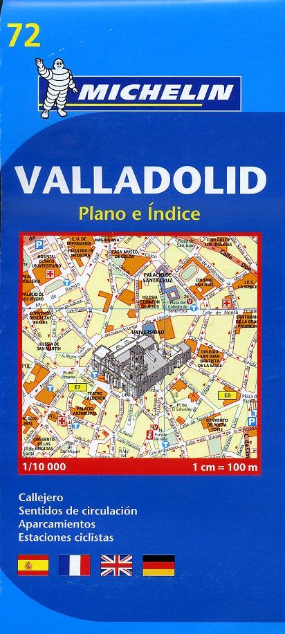 072 Valladolid 1:10.000 9782067158474  Michelin   Stadsplattegronden Catalonië, Barcelona