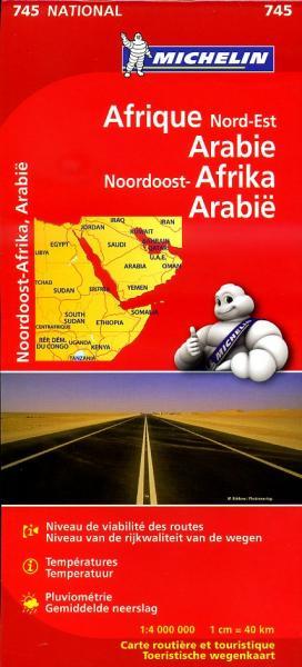 745 Afrika,Noord,Oost-, 1:4.000.000 9782067172449  Michelin   Landkaarten en wegenkaarten Afrika