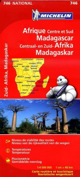 746 Afrika, Centraal, Zuid-, 1:4m. 9782067172517  Michelin   Landkaarten en wegenkaarten Afrika