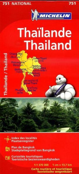 751  Thailande 1:1.370.000 9782067172678  Michelin   Landkaarten en wegenkaarten Thailand