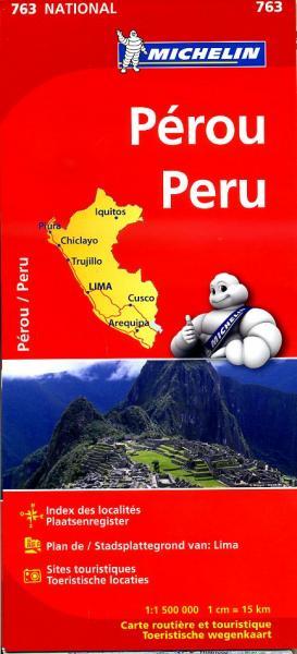 763  Peru 1:1.500.000 9782067173422  Michelin   Landkaarten en wegenkaarten Peru