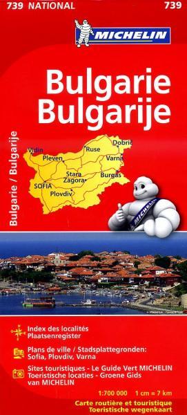 739  Bulgarije 1:700.000 9782067174030  Michelin Michelin 1:750.000  Landkaarten en wegenkaarten Bulgarije