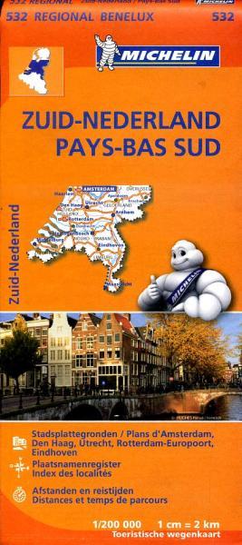 532  Nederland Zuid - Michelin | wegenkaart, autokaart 1:200.000 9782067183407  Michelin   Landkaarten en wegenkaarten Nederland, Zuid Nederland
