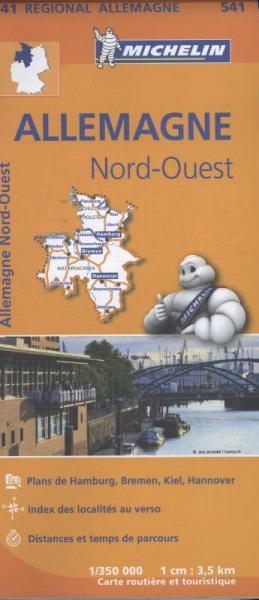 541 Noordwest-Duitsland 1:350.000 wegenkaart 9782067183520  Michelin Mich. Region. Krtn. Dtsl.  Landkaarten en wegenkaarten Duitsland