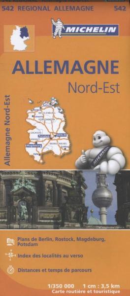 542 Mecklenburg-Vorpommern en Brandenburg 1:350.000 wegenkaart 9782067183551  Michelin Mich. Region. Krtn. Dtsl.  Landkaarten en wegenkaarten Oost-Duitsland