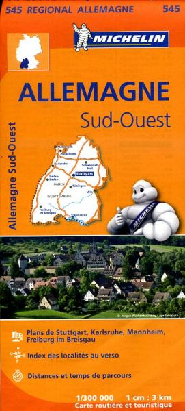 545 Baden-Württemberg | Michelin  wegenkaart, autokaart 1:300.000 9782067183643  Michelin Mich. Region. Krtn. Dtsl.  Landkaarten en wegenkaarten Baden-Württemberg