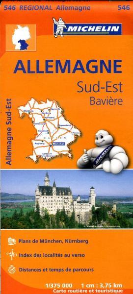 546 Bayern 1:375.000 wegenkaart Beieren 9782067183674  Michelin Mich. Region. Krtn. Dtsl.  Landkaarten en wegenkaarten Beieren