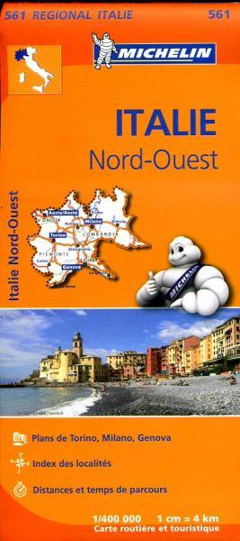 561  Italie NW | Michelin  wegenkaart, autokaart 1:400.000 9782067183919  Michelin   Landkaarten en wegenkaarten Noord-Italië