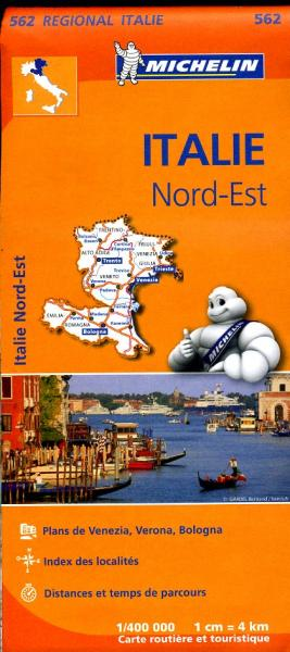 562 Italie NO | Michelin  wegenkaart, autokaart 1:400.000 9782067183957  Michelin   Landkaarten en wegenkaarten Noord-Italië