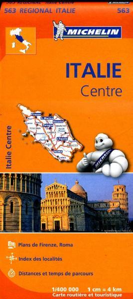 563 Italië Midden | Michelin  wegenkaart, autokaart 1:400.000 9782067183995  Michelin   Landkaarten en wegenkaarten Midden-Italië