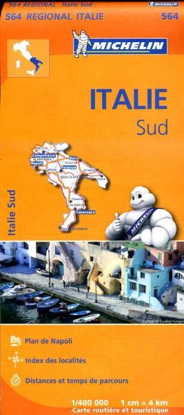 564 Zuid-Italie | Michelin  wegenkaart, autokaart 1:400.000 9782067184039  Michelin   Landkaarten en wegenkaarten Zuid-Italië