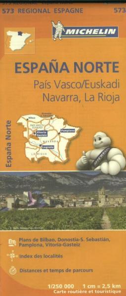 573  Navarra | Michelin  wegenkaart, autokaart 1:250.000 9782067184176  Michelin Michelin Spanje Regionaal  Landkaarten en wegenkaarten Noordwest-Spanje