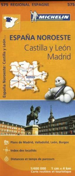 575  Castilla y Leon/Madrid | Michelin  wegenkaart, autokaart 1:400.000 9782067184275  Michelin Michelin Spanje Regionaal  Landkaarten en wegenkaarten Midden-Spanje