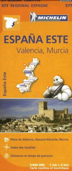 577  Comunidad Valenciana/Murcia | Michelin  wegenkaart, autokaart 1:400.000 9782067184374  Michelin Michelin Spanje Regionaal  Landkaarten en wegenkaarten Midden-Spanje