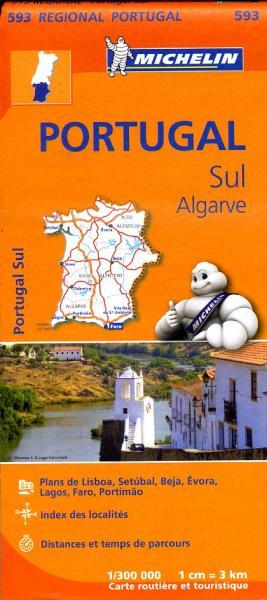 593  Zuid-Portugal, Algarve | Michelin  wegenkaart, autokaart 1:300.000 9782067184763  Michelin   Landkaarten en wegenkaarten Zuid-Portugal, Algarve