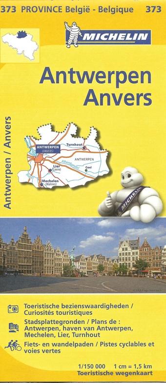 Antwerpen, provincie 9782067185302  Michelin België 1:150.000  Landkaarten en wegenkaarten Vlaanderen