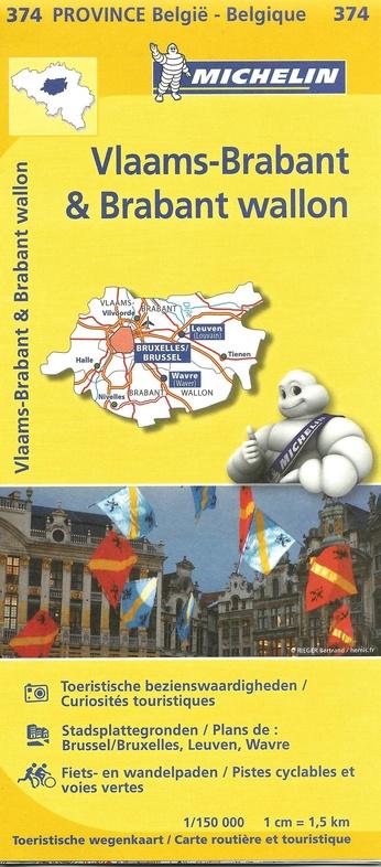 Brabant (Vlaams en Waals) 9782067185319  Michelin België 1:150.000  Landkaarten en wegenkaarten Vlaanderen