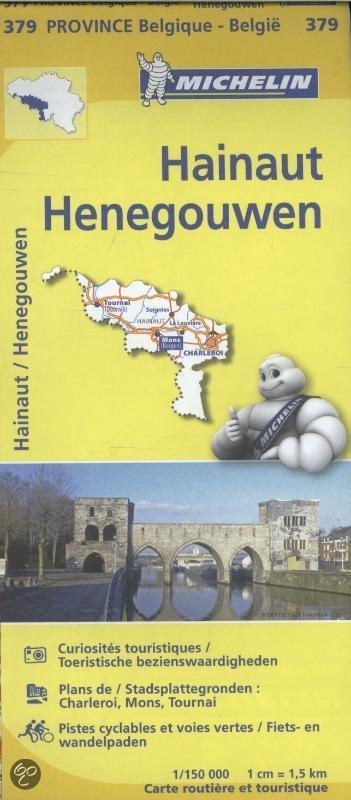 Henegouwen, province de Hainaut 9782067185364  Michelin België 1:150.000  Landkaarten en wegenkaarten Wallonië (Ardennen)
