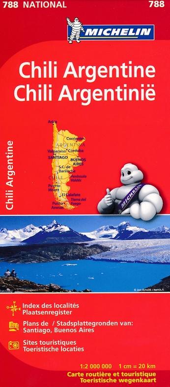 788  Chili en Argentinië 1:2.000.000 9782067185616  Michelin   Landkaarten en wegenkaarten Zuidelijk Zuid-Amerika
