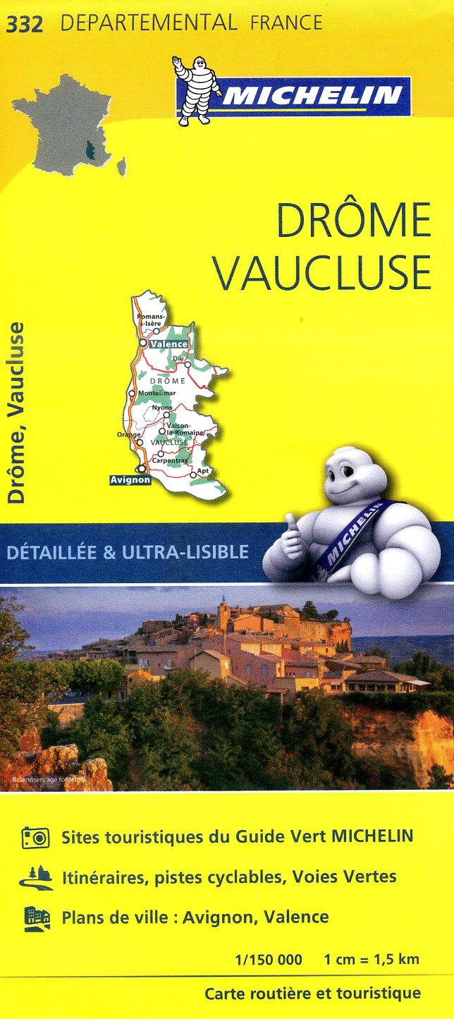 332  Drôme, Vaucluse | wegenkaart, fietskaart 1:150.000 9782067202344  Michelin Local / Departementskaarten  Landkaarten en wegenkaarten Ardèche, Drôme, Provence, Marseille, Camargue
