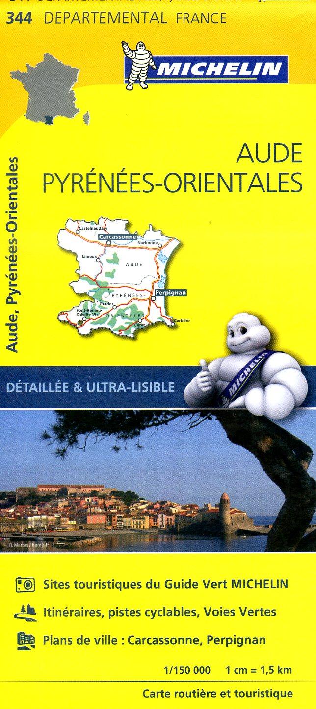 344  Aude, Pyrénées-Orientales | wegenkaart, fietskaart 1:150.000 9782067202467  Michelin Local / Departementskaarten  Landkaarten en wegenkaarten Franse Pyreneeën
