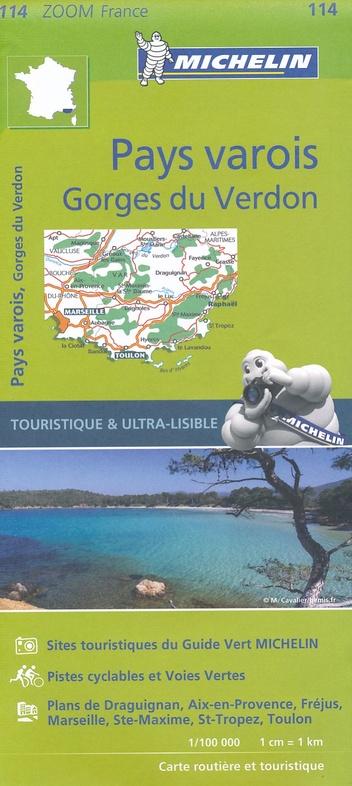 114  Cote d Azur / Var / Gorges du Verdon 1:100.000 9782067209824  Michelin Zoom  Landkaarten en wegenkaarten Côte d'Azur, Franse Alpen: zuid