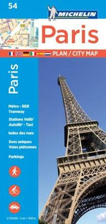 055  Paris | Michelin stadsplattegrond Parijs 1:10.000 9782067211568  Michelin Stadsplattegronden  Stadsplattegronden Parijs, Île-de-France