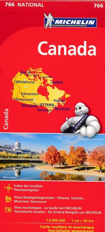 766 Canada 1:4.000.000 9782067216440  Michelin   Landkaarten en wegenkaarten Canada