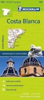 123  Costa Blanca - zoom 1:130.000 9782067217904  Michelin Michelin Spanje, Zoom  Landkaarten en wegenkaarten Costa Blanca