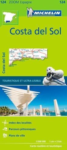 124  Costa del Sol | Michelin  wegenkaart, autokaart 1:200.000 9782067217911  Michelin Michelin Spanje, Zoom  Landkaarten en wegenkaarten Andalusië