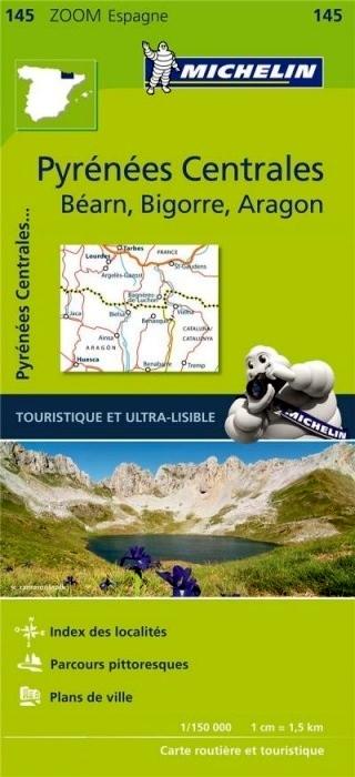 145  Pirineos Centrales 1:150.000 9782067218116  Michelin Michelin Spanje, Zoom  Landkaarten en wegenkaarten Spaanse Pyreneeën