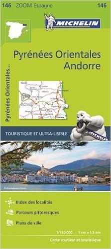 146  Pirineos Orientales 1:150.000 9782067218161  Michelin Zoom  Landkaarten en wegenkaarten Spaanse Pyreneeën