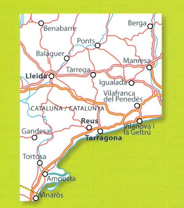 148  Costa Dorada  - zoom 1:150.000 9782067218208  Michelin Michelin Spanje, Zoom  Landkaarten en wegenkaarten Catalonië