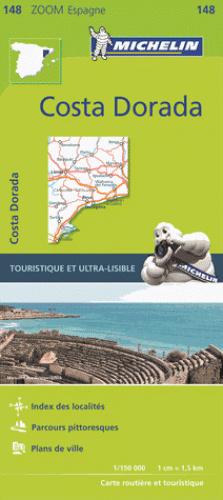 148  Costa Dorada  - zoom 1:150.000 9782067218208  Michelin Michelin Spanje, Zoom  Landkaarten en wegenkaarten Catalonië, Barcelona