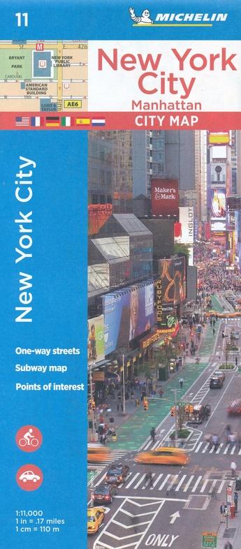 New York (Manhattan) 1:11.000 Michelin 9782067228870  Michelin Stadsplattegronden  Stadsplattegronden New York, Pennsylvania, Washington DC