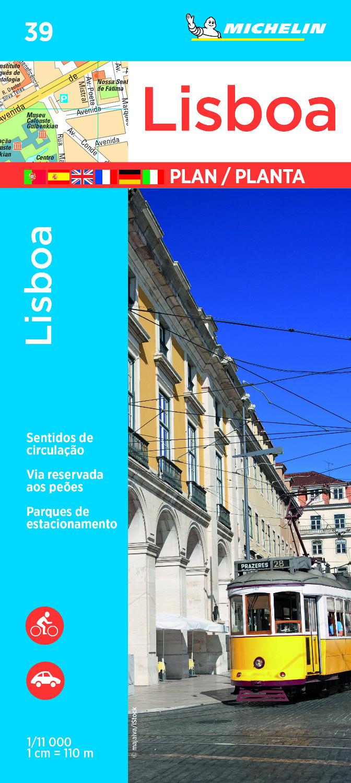 Lissabon, stadsplattegrond 1:11.000 9782067228887  Michelin Stadsplattegronden  Stadsplattegronden Noord en Midden-Portugal, Lissabon