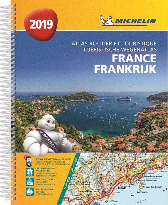 Frankrijk Wegenatlas 1/200.000 spiraalband 2019 9782067236035  Michelin Wegenatlassen  Wegenatlassen Frankrijk