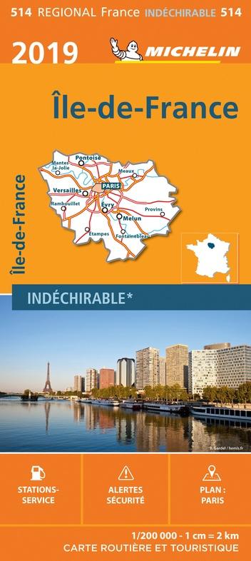 514 Île-de-France | Michelin  wegenkaart, autokaart 1:200.000 9782067236783  Michelin Regionale kaarten  Landkaarten en wegenkaarten Parijs, Île-de-France