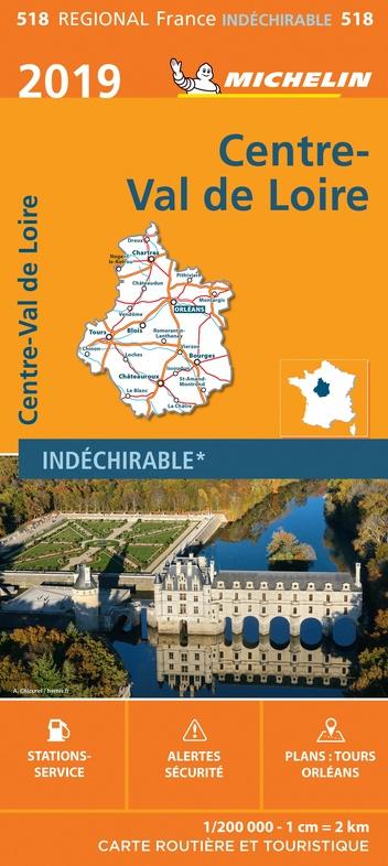 518 Centre | Michelin  wegenkaart, autokaart 1:200.000 9782067236820  Michelin Regionale kaarten  Landkaarten en wegenkaarten Loire & Centre