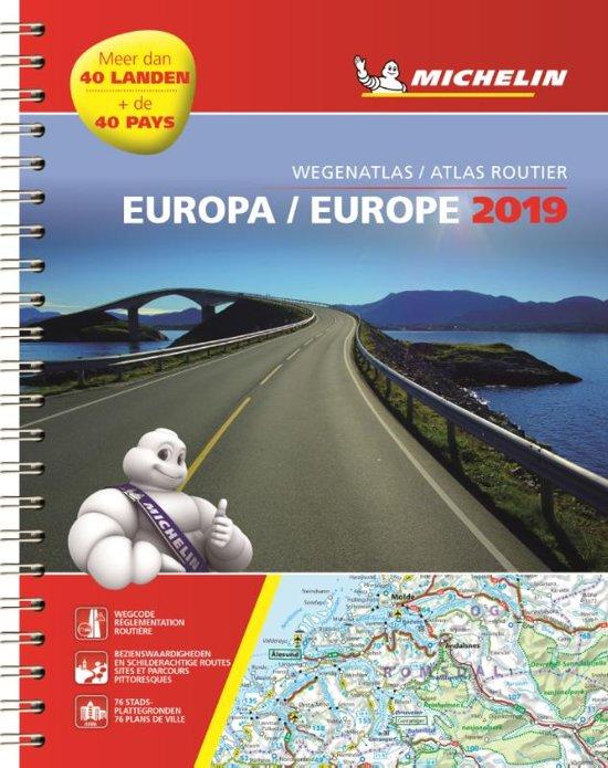 136 Europa Wegenatlas 2019 (spiraalband) 9782067237018  Michelin Wegenatlassen  Wegenatlassen Europa