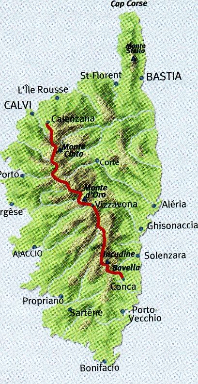 Le GR20 Fra il Monti  | wandelkaart 1:50.000 (Corsica, GR-20) 9782344000434  Libris Éditions Didier Richard  Meerdaagse wandelroutes, Wandelkaarten Corsica