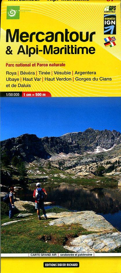 LB-07  Mercantour | wandelkaart 1:50.000 9782344002087  Libris Éditions Didier Richard  Wandelkaarten Franse Alpen: zuid