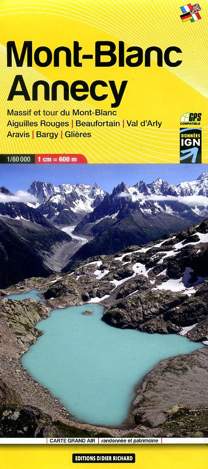 LB-02   Massif du Mont Blanc - Annecy | wandelkaart 1:60.000 9782344008041  Libris Éditions Didier Richard  Wandelkaarten Franse Alpen: noord