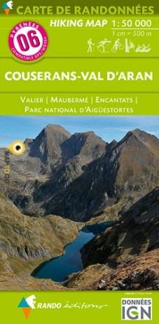 RP-06  Couserans, Val d Aran 1:50.000 9782344021415  Rando Editions Randonnées Pyrénéennes  Wandelkaarten Franse Pyreneeën