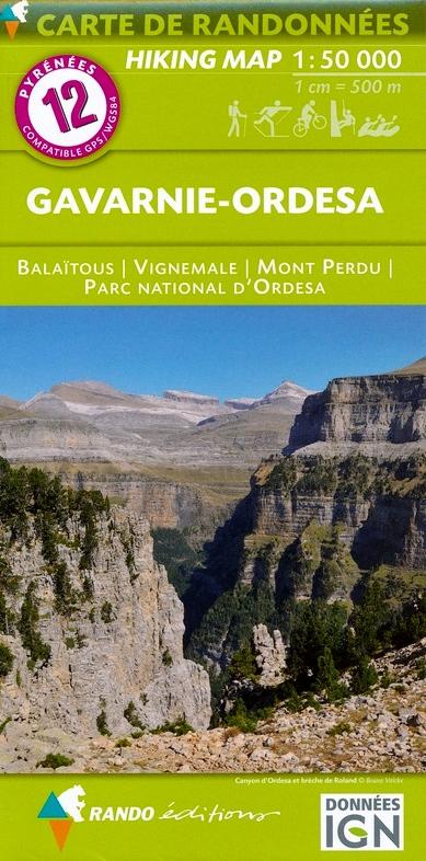 RP-12  Gavarnie - Ordesa 1:50.000 9782344026663  Rando Editions Randonnées Pyrénéennes  Wandelkaarten Franse Pyreneeën, Spaanse Pyreneeën