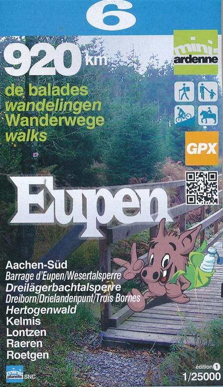 MA-06 Omgeving Eupen 1:25.000 9782390160052  Mini-Ardenne   Wandelkaarten Wallonië (Ardennen)